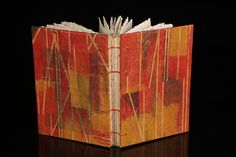 Handmade book using my original monotypes to create the book covers. Hand bound using the coptic and kettle stitch.