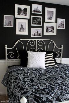 Black and White Bedroom Makeover