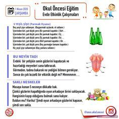 Evde Eğitim 2. Hafta Etkinlikleri Preschool, How To Plan, Kid Garden, Nursery Rhymes, Kindergarten, Day Care, Preschools, Kindergarten Center Management