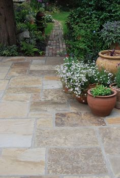 Grange – Riven Yorkstone Paving – Bingley Stone Natural Yorkshire Stone – Home – patio Paving Stone Patio, Outdoor Paving, Patio Slabs, Stone Walkways, Stone Patios, Paving Stones, Patio Tiles, Garden Slabs, Garden Paving