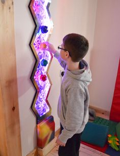 These innovative, interactive panels enable the tracking of bubbles whilst the cogs can be manually rotated inviting the swirls of water to change direction. The LED lights gently change colour to create an exciting sensory room addition. The Zig Zag Panels are wall mounted and can be combined together to increase the lighting effect and broaden the scope of interactivity. http://blossomforchildren.co.uk/sensory/141-zig-zag-wall-panel.html