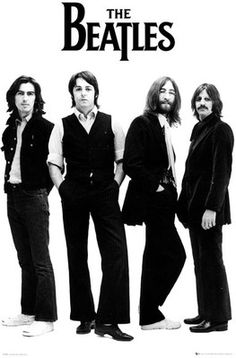 Buy The Beatles White Paper Print: Poster