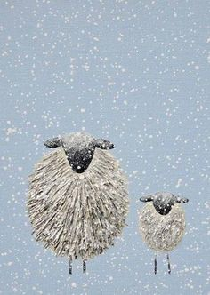 Sheep in snow | card 2 | Christina Harris