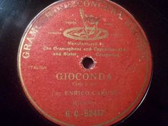 ENRICO CARUSO, Tenor   Gioconda - Cielo e mar  rarest G&T GC-52417 78rpm 10
