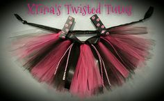 Pink and Black Valentines Day Tutu by XTinasTwistedTutus on Etsy