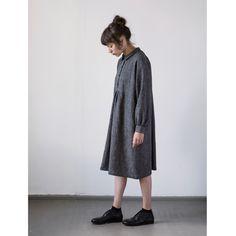 muku - Dark Grey Patterned Shirt/Dress