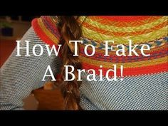 This is a great tutorial for everyone that has layered hair and thinks they can't wear a braid.