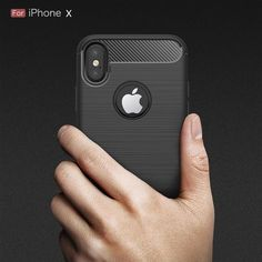 c2d394898c67d2 Soft Silicone TPU Carbon Fiber Case for iPhone X Cover Coque Luxury  Shockproof Armor Full Cover