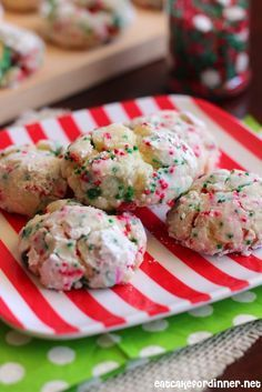 Christmas Gooey Butter Cookies are absolutely amazing and perfect for that Christmas Cookie plate!