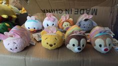 Disney Store TSUM TSUM Japan Limited EASTER SET of 8 Bunnies Bunnys Eggs IN US{}