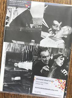 Count Dracula Vintage Vampire Horror Movie Collage Scrapbook