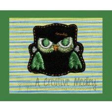 Hootensteen Owl Feltie Embroidery Design