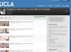PROBABILITY FOR THE MATHEMATICAL SCIENCES :     http://www.youtube.com/view_play_list?p=5BE09709EECF36AA#
