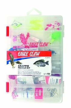 Eagle Claw has created a Crappie Tackle kit to help a new crappie fishermen get all the crappie tackle they need buy purchasing one product and at this price iit is a deal worth considering.