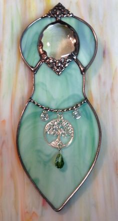 Stained Glass Mother Earth Goddess by craftycleo on Etsy, $30.00