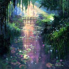 paysages magiques | arbre et la riviere
