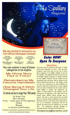 The Spellery Magazine announces it's first official Halloween Contest