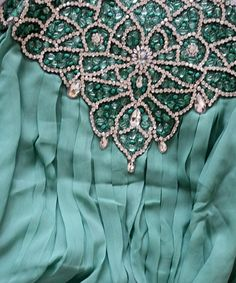 Detail from the Inayah Collection Turquoise Fashion, Turquoise And Purple, Aqua Blue, Turquoise Fabric, Inayah Collection, Aqua Color, Love Blue, Happy Colors, Tiffany Blue