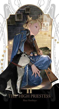 II - The High Priestess: Riza Hawkeye Wallpaper, Fullmetal Alchemist Brotherhood Tarot Cards Fullmetal Alchemist Brotherhood, Fullmetal Alchemist Mustang, Fullmetal Alchemist Alphonse, Manga Anime, Comic Manga, Me Anime, Girls Anime, Fanarts Anime, Full Metal Alchemist