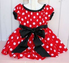 MINNIE Mouse Dress in red Polka Dots super by loverdoversclothing