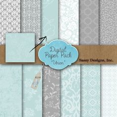 Digital Papers. Nice colors and subtle designs...