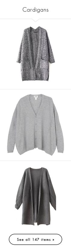 """""""Cardigans"""" by cherubim ❤ liked on Polyvore featuring tops, cardigans, long sleeve cardigan, open front tops, long sleeve tops, open front cardigan, long sleeve open front cardigan, sweaters, clothes - outerwear and soft concrete"""