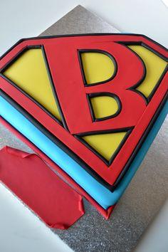 Deborah Hwang Cakes: Superman Logo Cake Tutorial by tamra Superman Cakes, Superman Logo, Superman Party, Cake Decorating Tutorials, Cookie Decorating, Cupcakes, Cupcake Cakes, Superhero Cake, Cake Spiderman