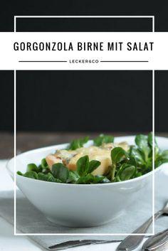 Gorgonzola-Birne mit Feldsalat   Vegetarisch