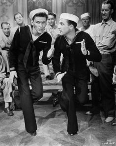Frank Sinatra and Gene Kelly. Anchors Away.