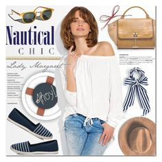 """Nautical chic with Lady Margaret"" by purpleagony on Polyvore featuring Esther Williams, Altuzarra, Summer, Sailor, nauticalstyle, espadrilles and ladymargaret"