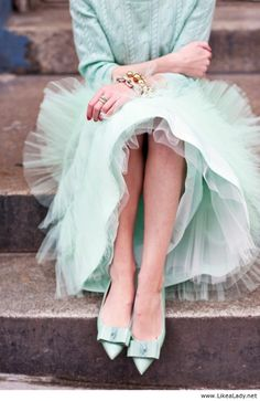 Mint and tulle