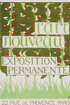Autor: Félix Vallotton, Título: Poster(L'ART NOUVEAU EXPOSITION PERMANENT) , Año: 1896