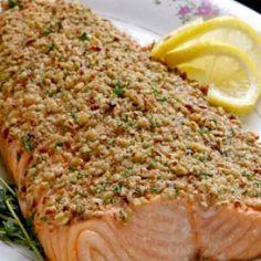 Salmon Cubierto con Almendras
