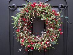 #christmas wreath with berries