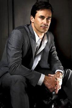 Grey Suit.  Jon Hamm