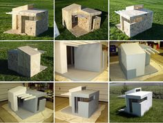 This urban Doghouse was designed and built by Brian Pickard, Joseph Jamgochian, and Vincent Bachman. From Brian Pickard: When my parents said they wanted a