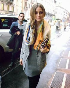 Olivia Palermo during Milan Fashion Week Autumn/Winter 2014