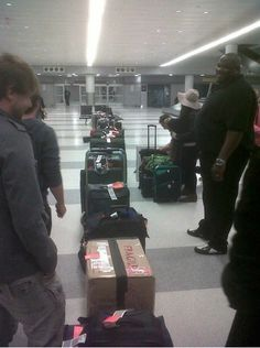 All of 1D's bags..... at least 3 take up Niall's shoes and at least 2 take up his hats oh and don't forget 5 for Lou's sass