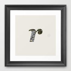 Letter r (River) Framed Art Print by Marcus Kelman - $32.00