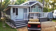 Mobile home designs made unique and more vivid with the addition of faux skirting in various stone and brick styles. See the renovation photos here. Faux Panels, Stone Panels, Modular Home Designs, Modular Homes, Mobile Home Skirting, Home Repair Services, Building A Porch, Building Plans, Home Improvement Loans