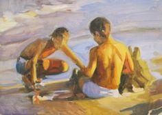 Iain Vellacott Beach Painting 2