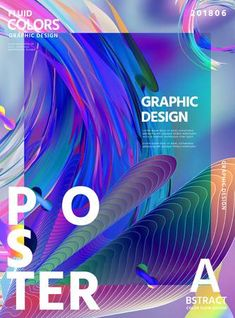 Abstract fluid colors poster design with wavy liquid shape on hologram color background in illustration 3d Poster, Typo Poster, Poster Colour, Mock Up, Hologram Colors, Tokyo Design, Book Layout, Cristiano, Photography Website