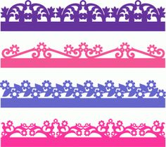 flowers borders set-----------------------I think I'm in love with this shape from the Silhouette Online Store!