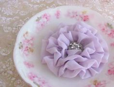 Flower Hair Clip Lilac Chiffon Fabric. Pin and by fabulousfinds, $16.00