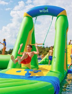 Double Stitching Outdoor Inflatable Water Parks Waterproof 0.9 mm PVC