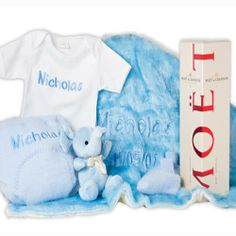 Personalised baby gift hampers #personalisedbabygifts