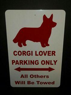 Corgi parking sign !