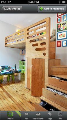 Cool bedroom idea! Wish I was handy!  Have you made your kid's room super cool? #ahwatukeemom #ahwatukeekids #kidsroom #DIY