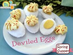 Felt deviled eggs-