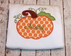 Girl's Pumpkin Halloween Shirt Pumpkin by thesimplyadorable, $20.00